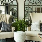 Unique ideas for living room wall decor   with mirrors