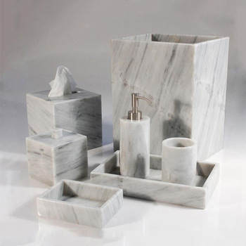 Yeeho Bath Accessories Natural Stone Bath Accessories Marble