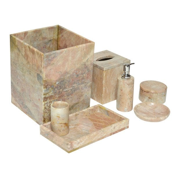 Shop Rembrandt Home 7-Piece Lavender Marble Bath Accessories Set