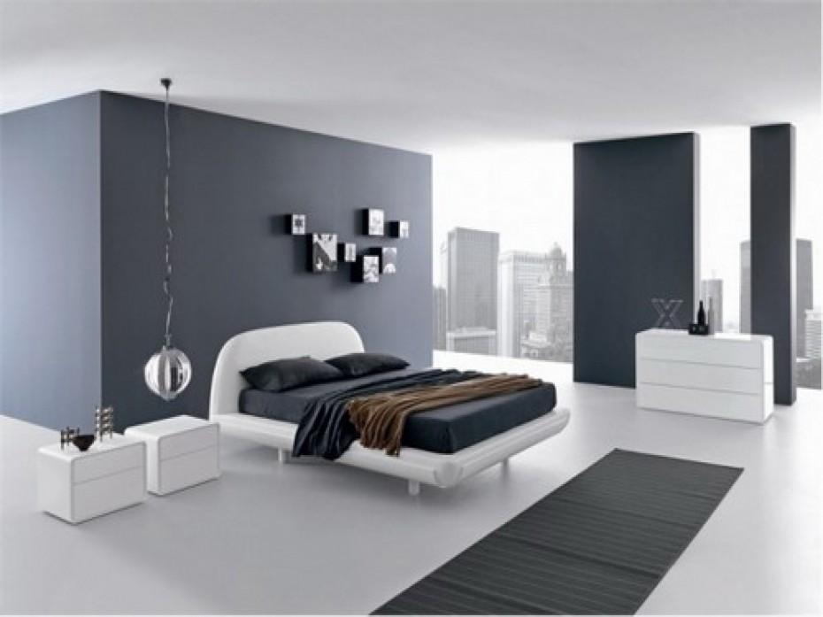 Modern Minimalist White And Black Master Bedroom Decor Design .