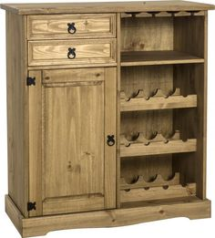 Corona Sideboard and Wine Rack - .Mexican Pine - Corona Dining Mexican Pine  Furniture for bedrooms, living and dining rooms