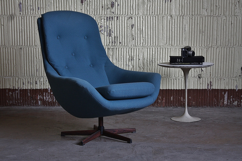 Sultry Norwegian Midcentury Modern Soda Galvano Swivel Lounge Chair  (Norway, 1950s) | by