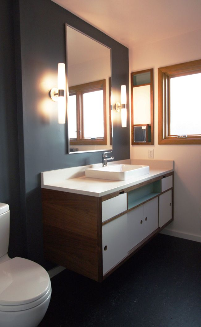 30 Beautiful Midcentury Bathroom Design Ideas | Remodel | Mid century modern  bathroom, Mid century bathroom, Modern bathroom