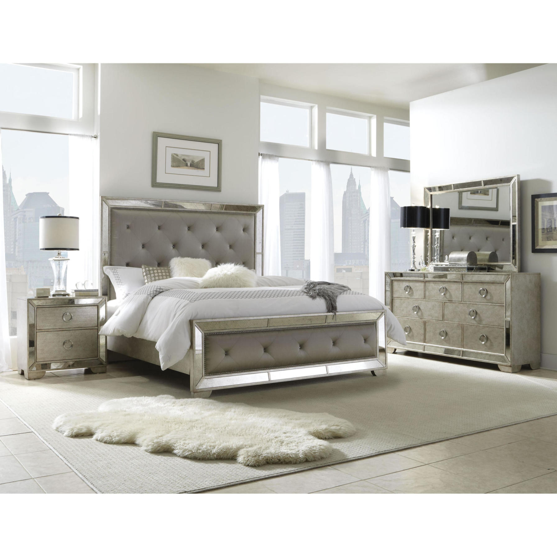Mirrored Cabinets Bedroom-Mirrored Bedroom Furniture Mirrored Glass Chest  Of Drawers
