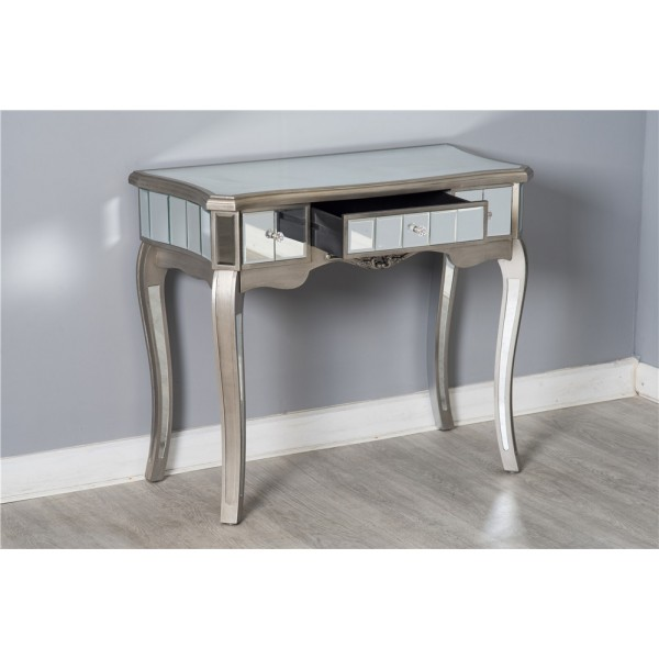 Mirrored Glass Dressing Table Stool | Antique Bedroom Furniture