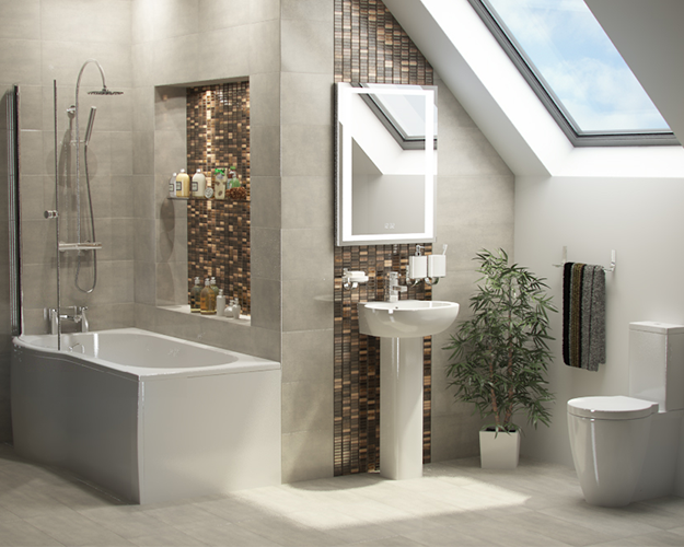 Milo Shower Bath Suite - Bathrooms at Bathshop321