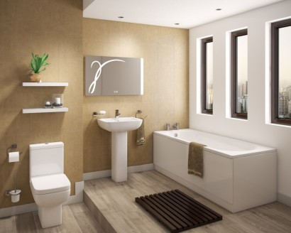 Modern bathroom suites - Contemporary Shower Bath, Basin & Toilets
