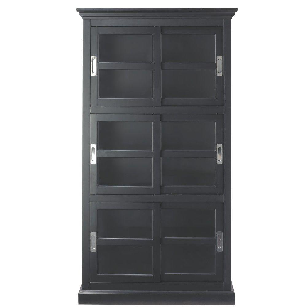 Architecture: Black Bookcase With Doors Uk Awesome Bookshelves Modern Glass  Door Mesmerizing Design Pertaining To