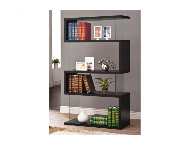 Modern Black Bookcase Display C 800340