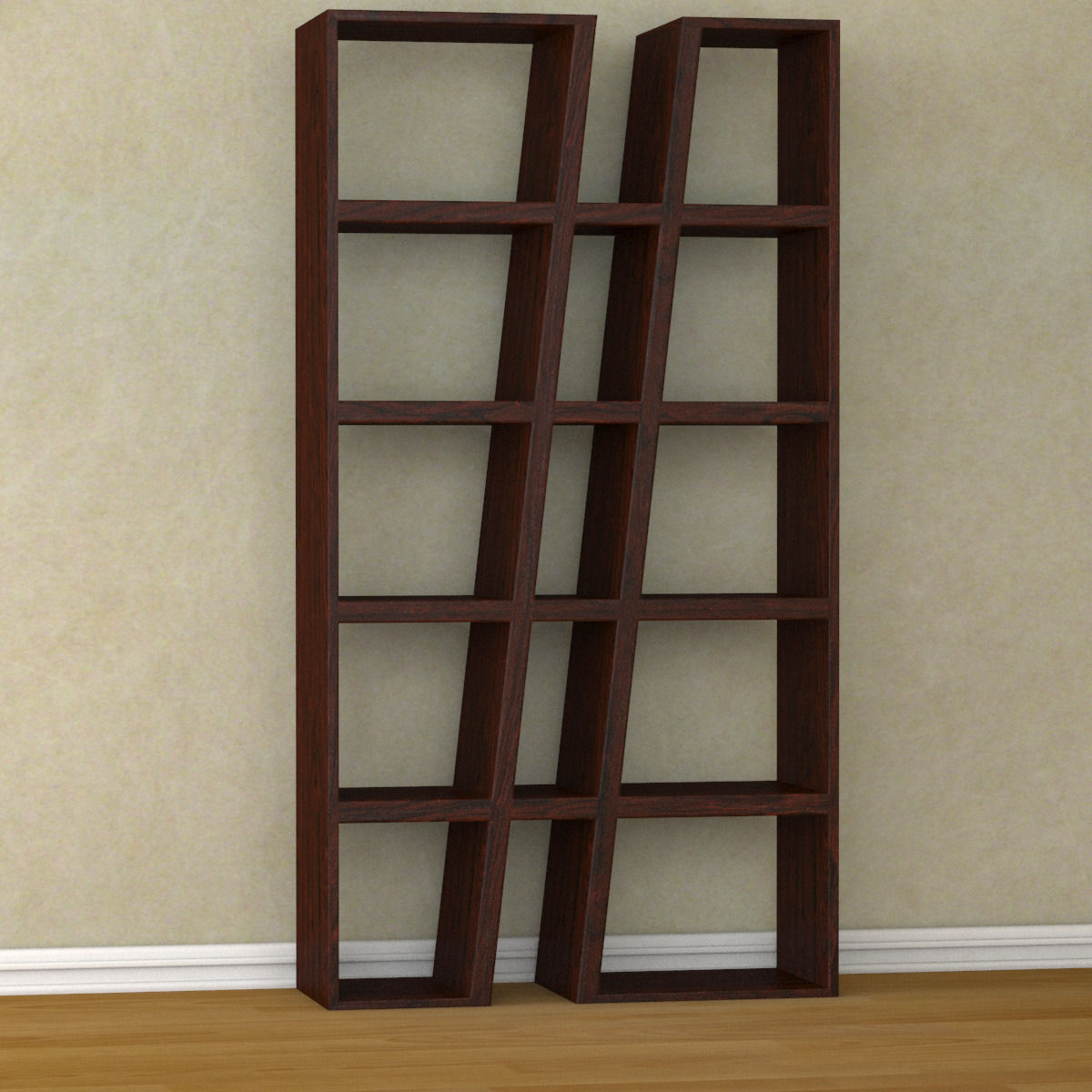 modern bookshelf 3d model max obj mtl 3ds fbx 2