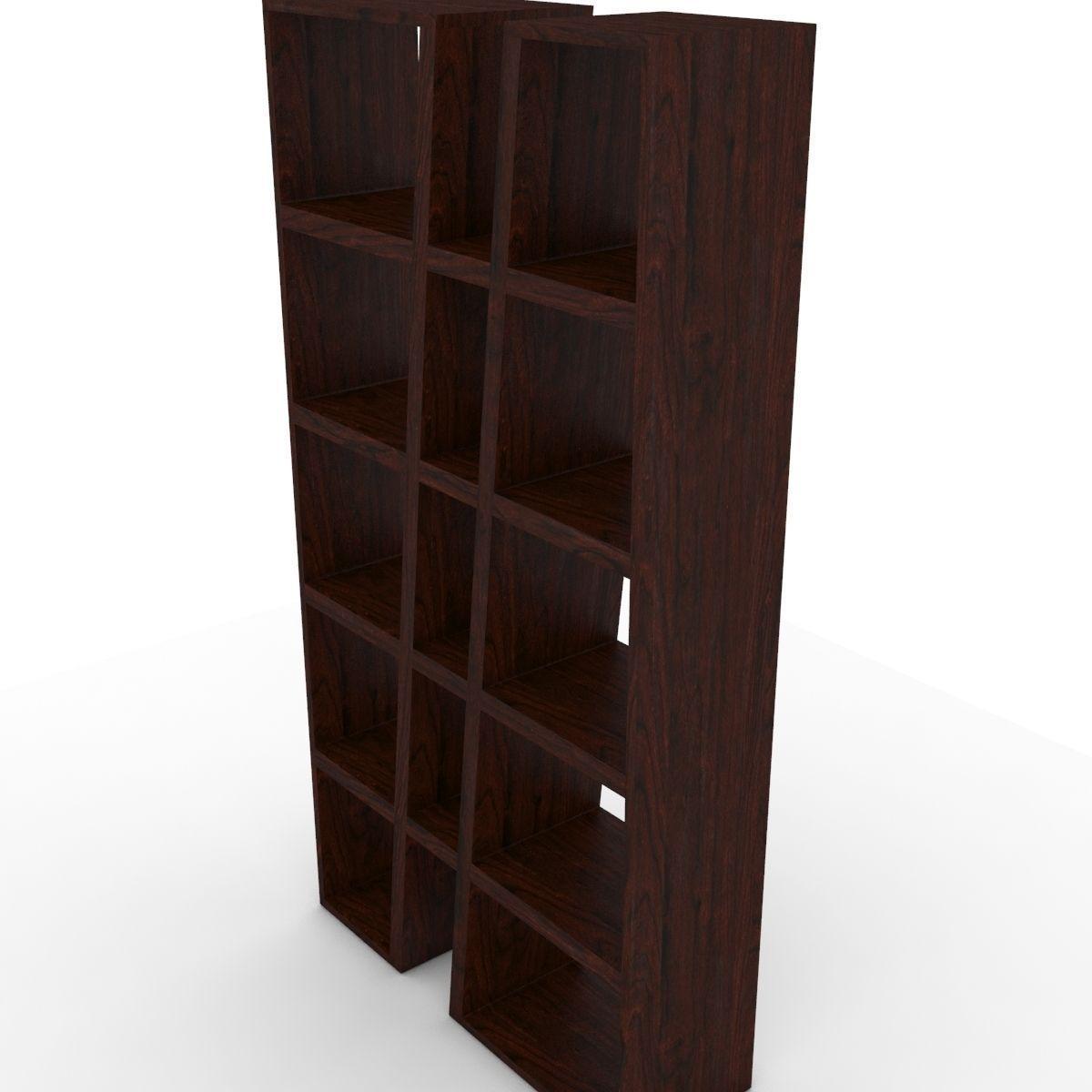 modern bookshelf 3d model max obj mtl 3ds fbx 8