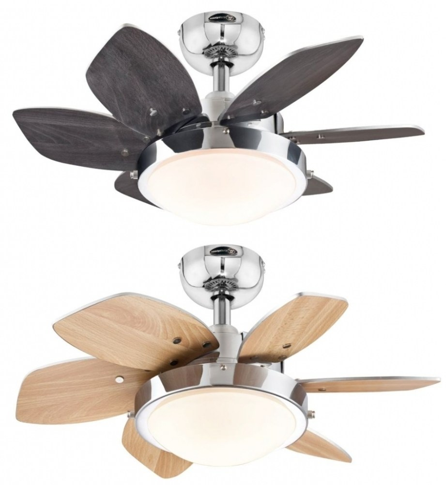 Modern ceiling fans with bright lights   and room decor