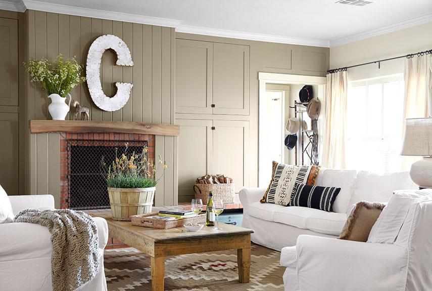 Homey living room feeling