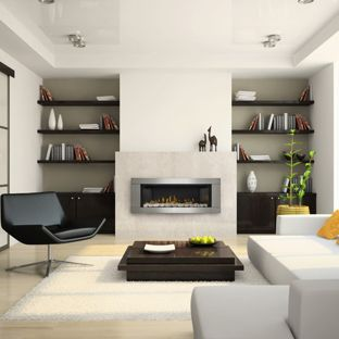 Example of a large minimalist formal and enclosed light wood floor and  beige floor living room