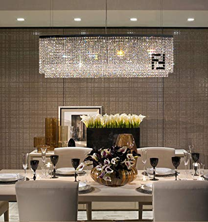 Image Unavailable. Image not available for. Color: Siljoy Modern Oval  Rectangular Chandelier Dining Room