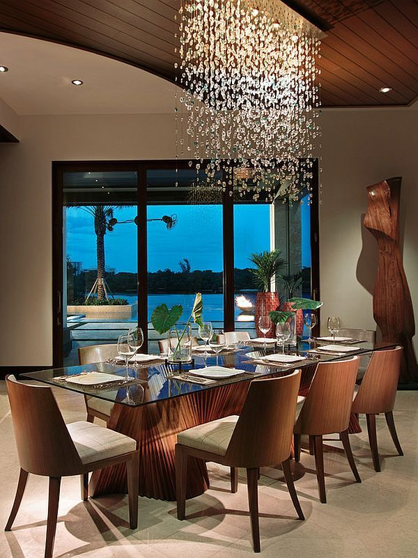 Modern dining room #Lighting [ Traveller Location ]