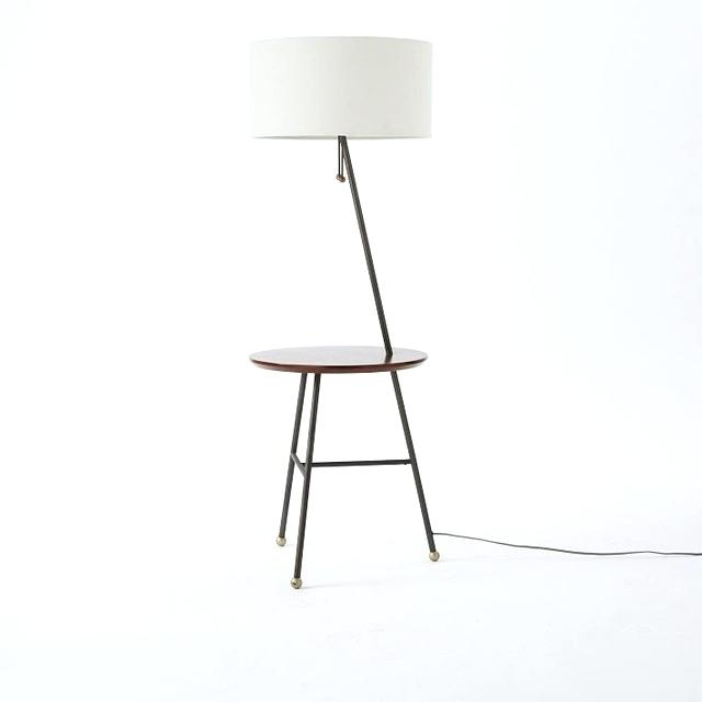 Modern Floor Lamp With Attached Table : Interior - www.getcomfee.com