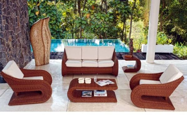 Gartenmöbel Polyrattan - 45 Outdoor rattan furniture - modern garden  furniture set and lounge chair