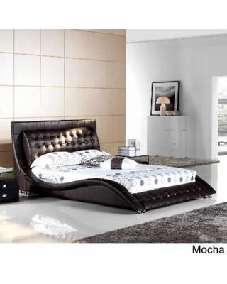 Matisse Dublin Modern King Size Platform Bed (Mocha), Black