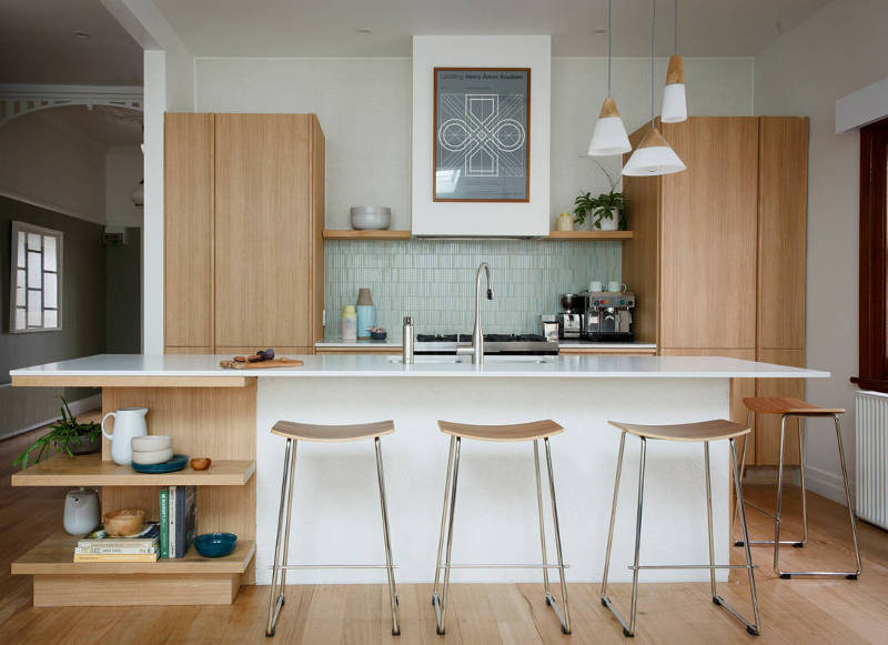mid-century modern small kitchen design ideas - Traveller Location