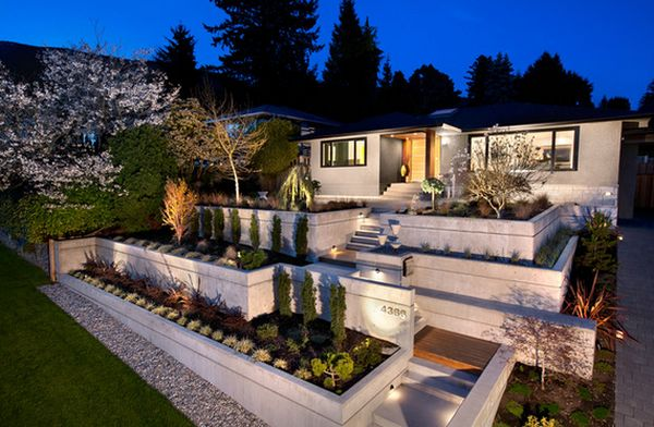 View in gallery. In order to obtain a modern design for your front yard