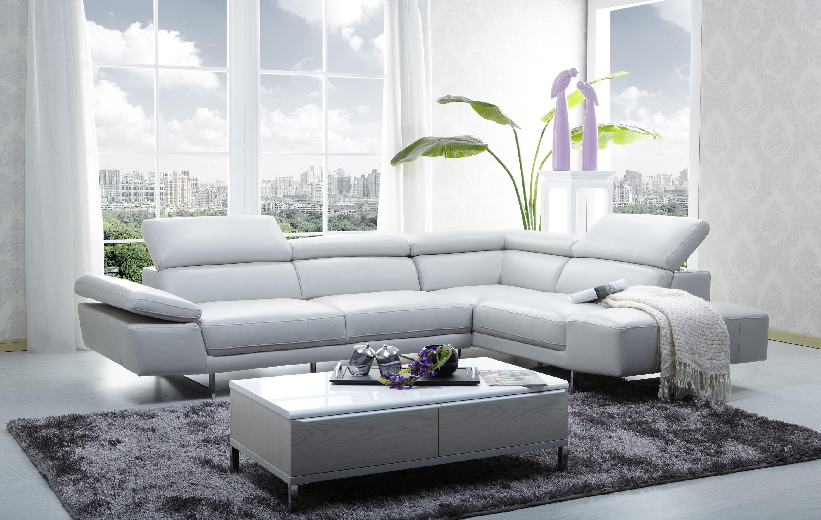 CADO Modern Furniture - 1717 Italian Leather Modern Sectional Sofa