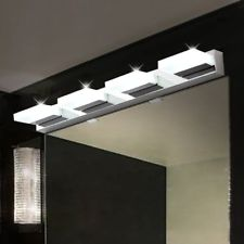 Modern Bathroom Vanity 4 LED Light Crystal Front Mirror Toilet Wall Lamp  Fixture