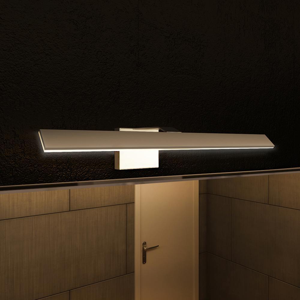 Silver/Nickel Low-Profile Modern LED Vanity/Bath Bar Light