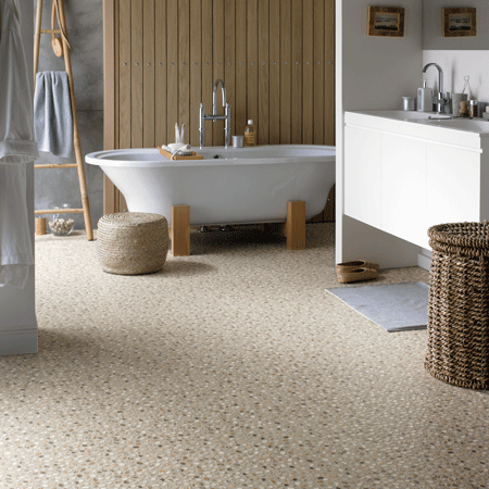 More Karndean 12″x12″ vinyl tile floors with retro and retro-modern .