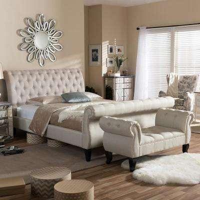 Arran 2-Piece Beige Queen Bedroom Set