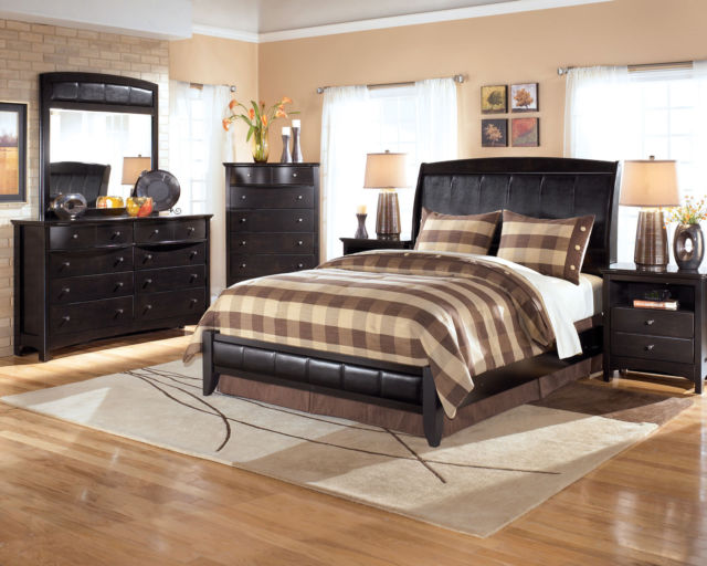 Ashley Furniture B208 Harmony - Modern Queen or King Panel Bed Frame Bedroom  Set