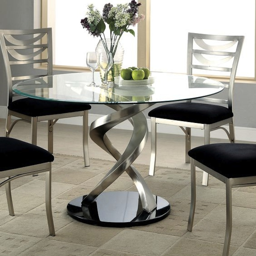 All you need to know about modern round   glass dining table set
