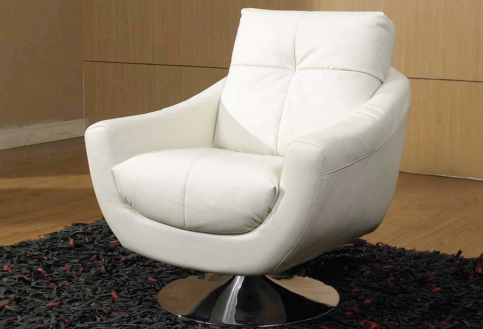 White Contemporary Swivel Chair