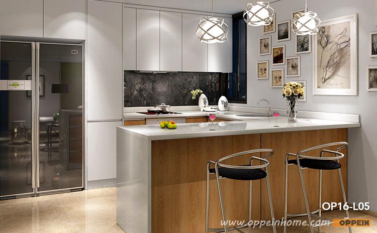 Melamine Kitchen Cabinet, Melamine Wood Grain Finish, White Kitchens