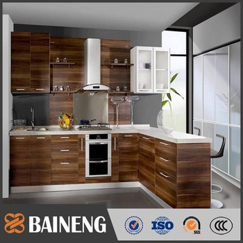 Various Wood Grain Laminate Kitchen Cabinet For Modern Simple