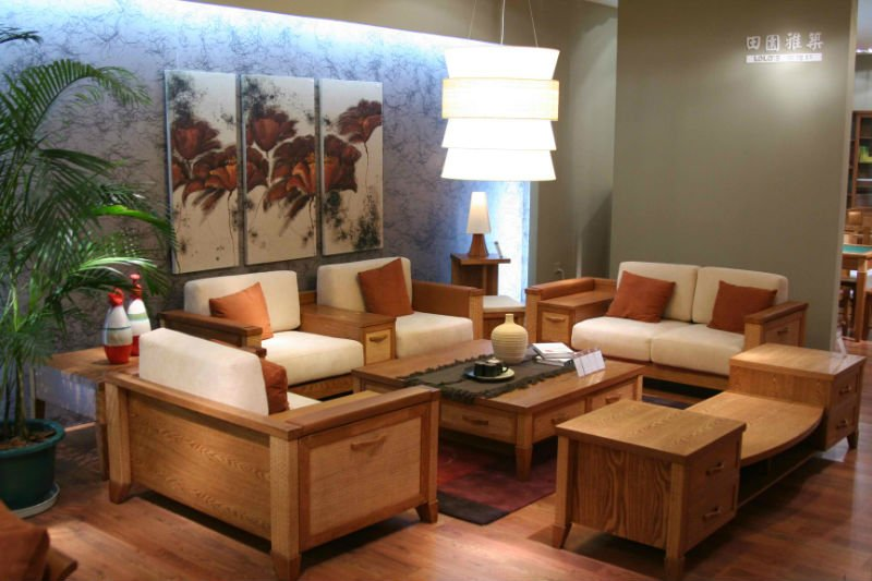 mapajunction.com | wooden sofa furniture for small living room with