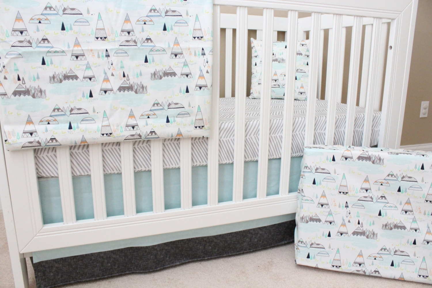 Woodland Crib Bedding Ba Bedding Modern Nursery