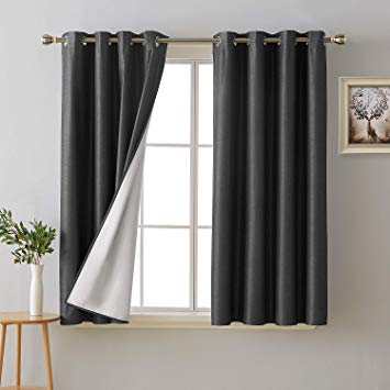 Amazon.com: Deconovo Total Blackout Curtain Panels Thermal Insulated