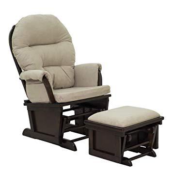Amazon.com: HOMCOM Nursery Glider Rocking Chair with Ottoman Set