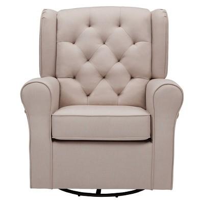 Delta Children® Emma Nursery Glider Swivel Rocker Chair - Flax : Target