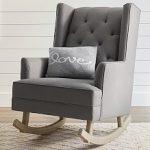 Nursery rocking chair with ottoman ,   rocks!