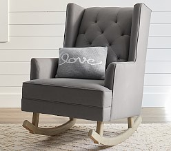 Nursery rocking chair with ottoman ,   rocks!