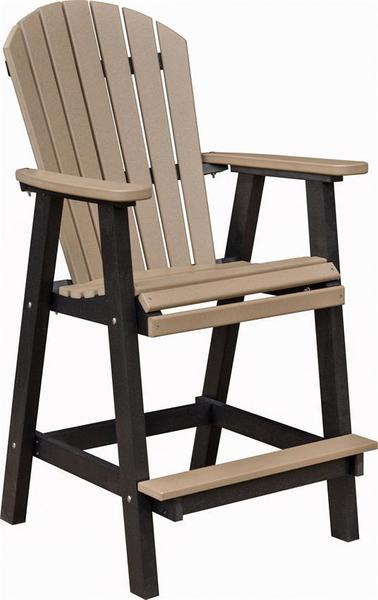 Berlin Gardens Comfo-Back Outdoor Poly Bar Stool