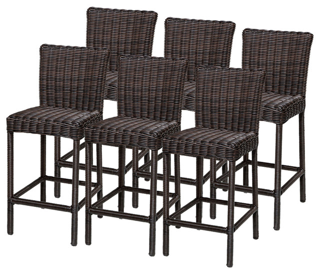 Brilliant Outdoor Bar Stools 6 Rustico Barstools W Back Tropical