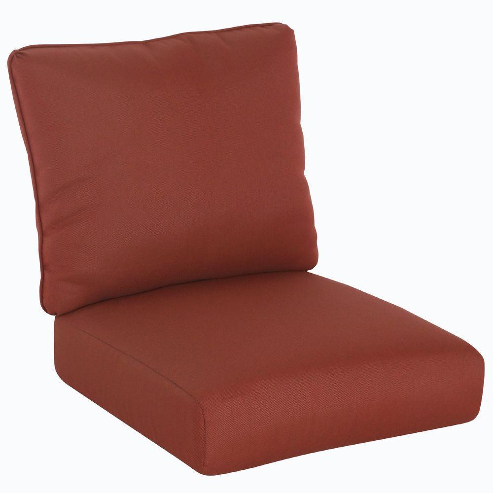 Tobago 23.25 x 25 Outdoor Chair Cushion in Standard Burgundy