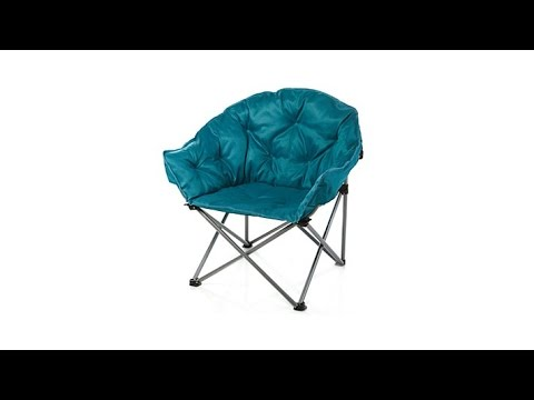 HGTV HOME Padded Folding Outdoor Club Chair - YouTube