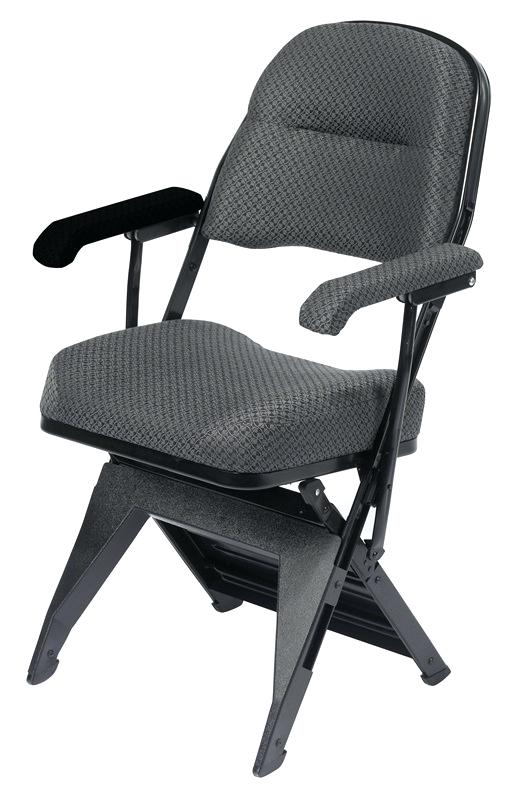 Padded Miracle Fold Tablet Arm Chair Right Hand Folding Chairs With