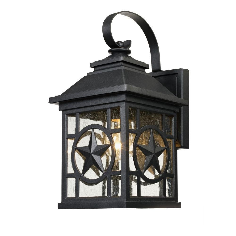 Texas Star Outdoor Black Medium Wall Lantern