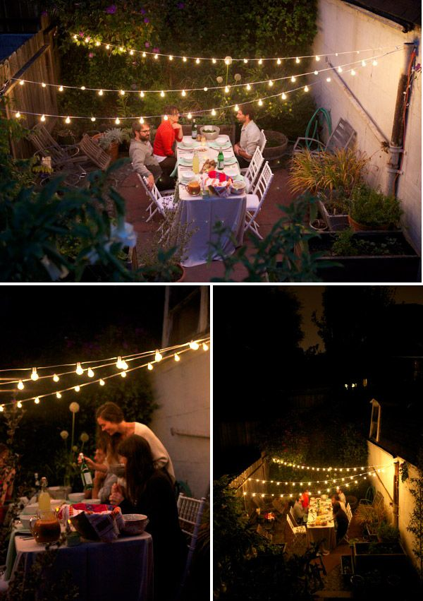 Love the lights. I need to do this in the backyard.