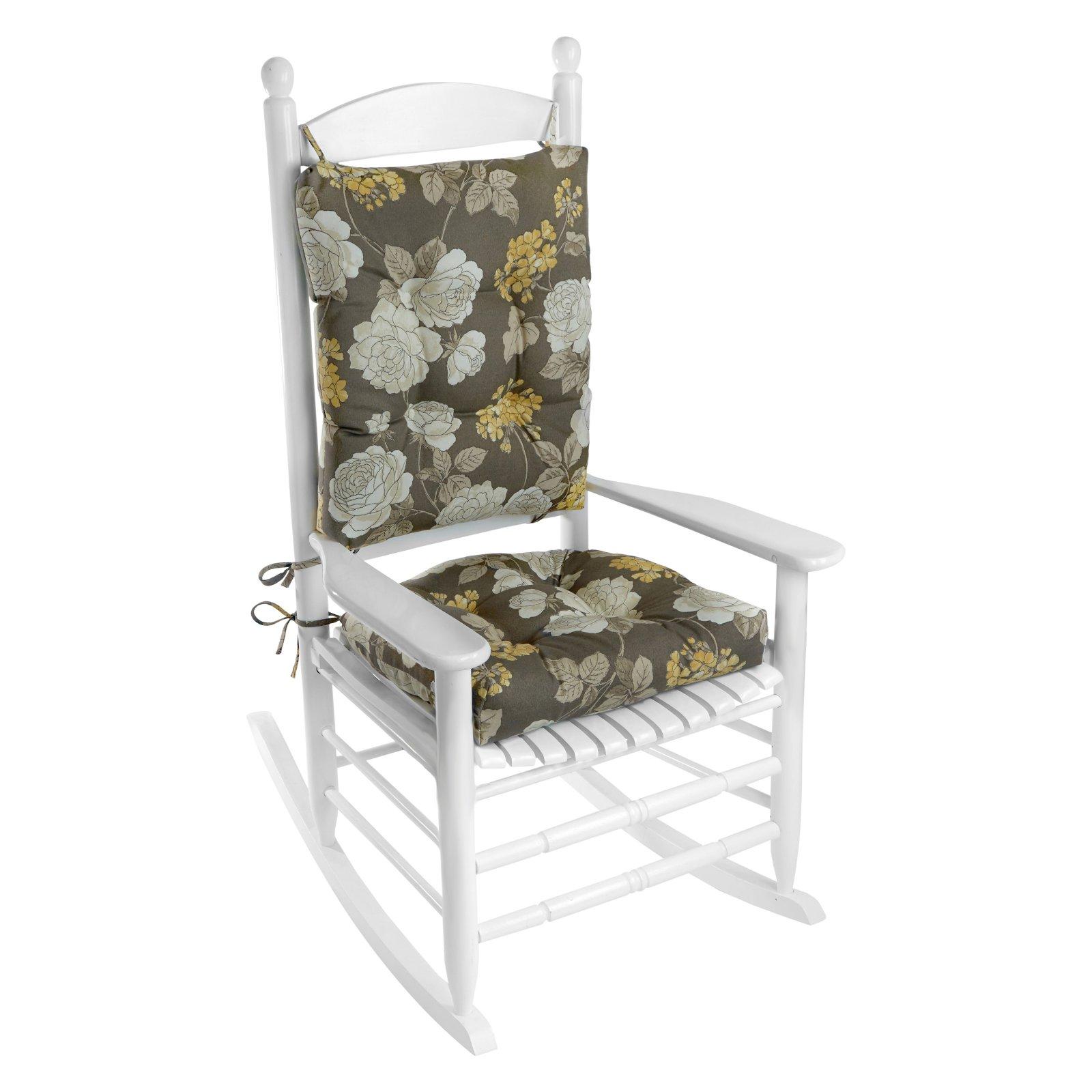 Klear Vu Easy Care 2 Piece Outdoor Rocking Chair Cushion Set